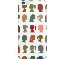 Ladies Cameo Colorful iPhone Case/Skin