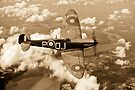 Battle of Britain Spitfire sepia version by Gary Eason + Flight Artworks