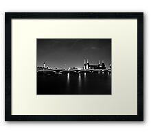 Battersea Power Station at Night Framed Print