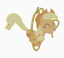 Applejack Lasso Trick Without Text Kids Tee
