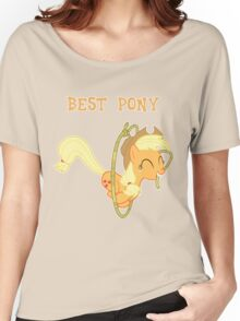 Applejack Lasso Trick With Text Women's Relaxed Fit T-Shirt