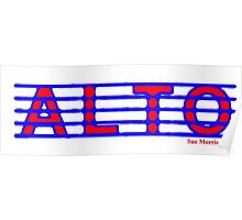 Alto Blue and Red Poster