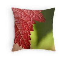 Red Leaf Lines Throw Pillow