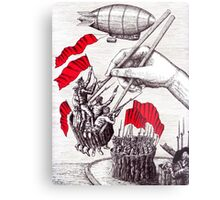 Revolutionary Sushi surreal pen ink and pencil drawing Metal Print