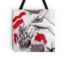 Revolutionary Sushi surreal pen ink and pencil drawing Tote Bag