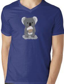 Koala and Cupcake Mens V-Neck T-Shirt