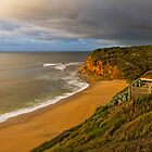 Early Morning at Bells Beach Panorama by Jennifer Bailey