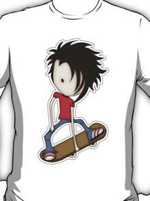 Skateboarder Teenage Boy Cartoon T-Shirt