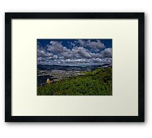 Canon Point View Of Upper Hutt Framed Print