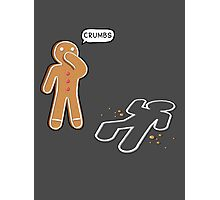 CRUMBS Ironic Gingerbeard Man Crime Scene  Photographic Print