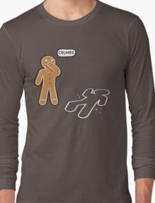 CRUMBS Ironic Gingerbeard Man Crime Scene  Long Sleeve T-Shirt