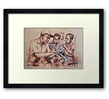 Louis Armstrong and children/jazz Framed Print