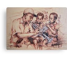 Louis Armstrong and children/jazz Canvas Print