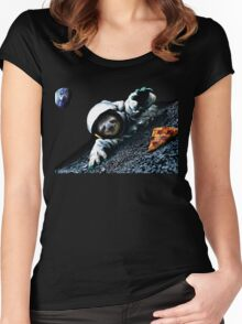 Slothstronaut Women's Fitted Scoop T-Shirt