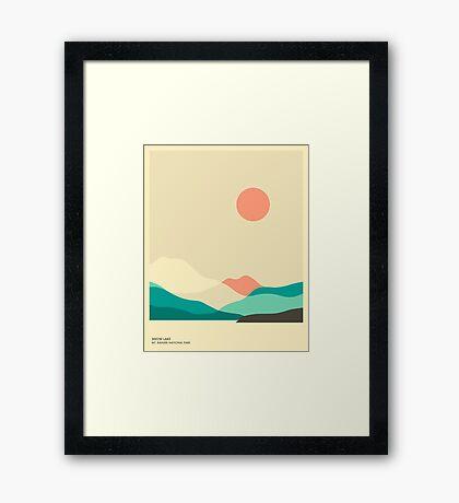 MT. RAINIER NATIONAL PARK, SNOW LAKE Framed Print