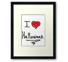 i love halloween Framed Print