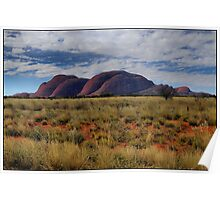 The Olgas from afar Poster