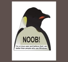 NOOB! I am a Linux snob Kids Clothes