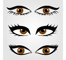 Different types of womens eyes Photographic Print