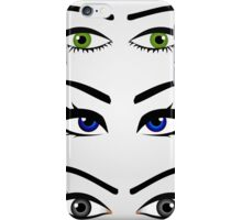 Different types of womens eyes iPhone Case/Skin