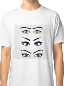 Different types of womens eyes Classic T-Shirt