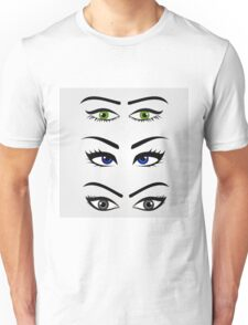Different types of womens eyes Unisex T-Shirt