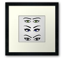Different types of womens eyes Framed Print
