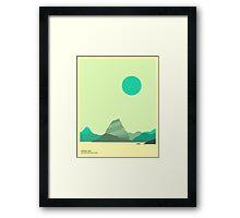 GLACIER NATIONAL PARK, HIDDEN LAKE Framed Print