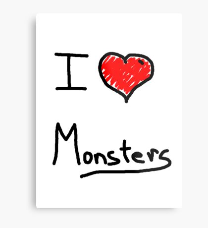 i love halloween monsters Metal Print