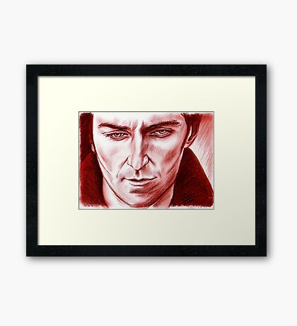 Richard Armitage, Lucas, sanguine Framed Print