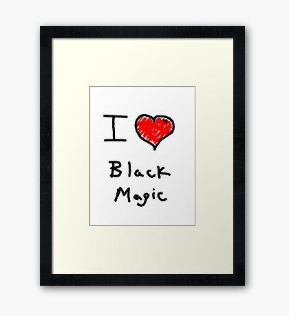 i love halloween black magic  Framed Print