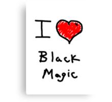 i love halloween black magic  Canvas Print