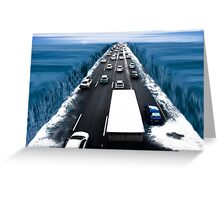 Modern Crossing of the Red Sea. Greeting Card