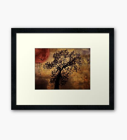 Dripping Moon Framed Print