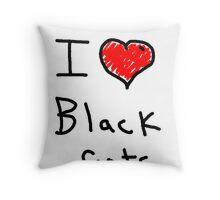 i love halloween black cats Throw Pillow