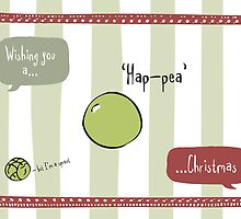 Hap-pea Christmas by Laura Jane West