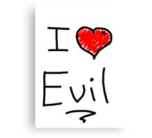 i love halloween evil Canvas Print