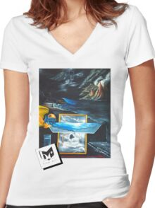 Water Women's Fitted V-Neck T-Shirt
