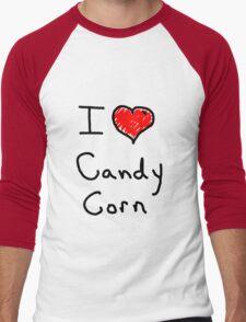 i love halloween candy corn  Men's Baseball ¾ T-Shirt