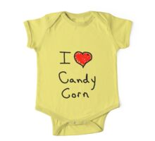 i love halloween candy corn  One Piece - Short Sleeve