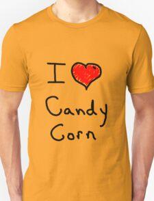 i love halloween candy corn  Unisex T-Shirt