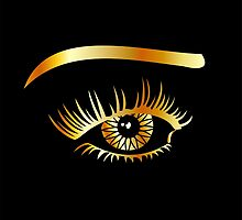 Golden eye with eyebrow and details inside  by Shawlin Mohd
