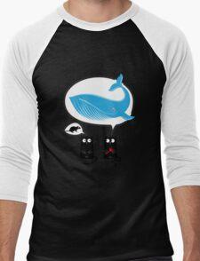 Cats and food Men's Baseball ¾ T-Shirt