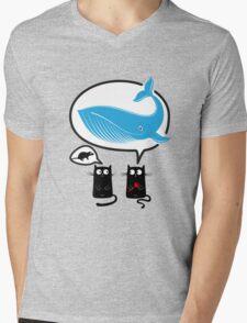 Cats and food Mens V-Neck T-Shirt