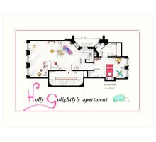Breakfast at Tiffany's Apartment Floorplan v2 Art Print