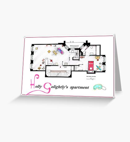 Breakfast at Tiffany's Apartment Floorplan v2 Greeting Card