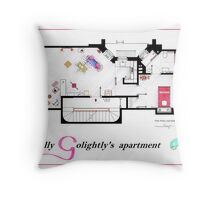 Breakfast at Tiffany's Apartment Floorplan v2 Throw Pillow