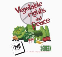 Vegetable Rights and Peace T-Shirt