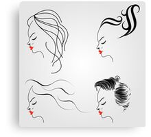 Women with different hairstyles  Canvas Print