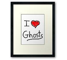 i love halloween ghosts Framed Print